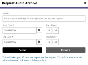Echocast's request archived audio functionality.