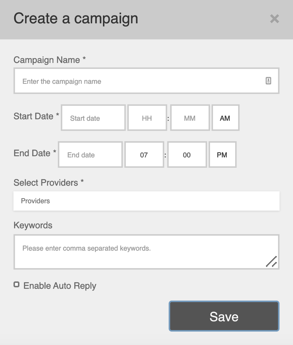 An image depicting the set-up of campaigns using Smashboard's Campaign Manager.