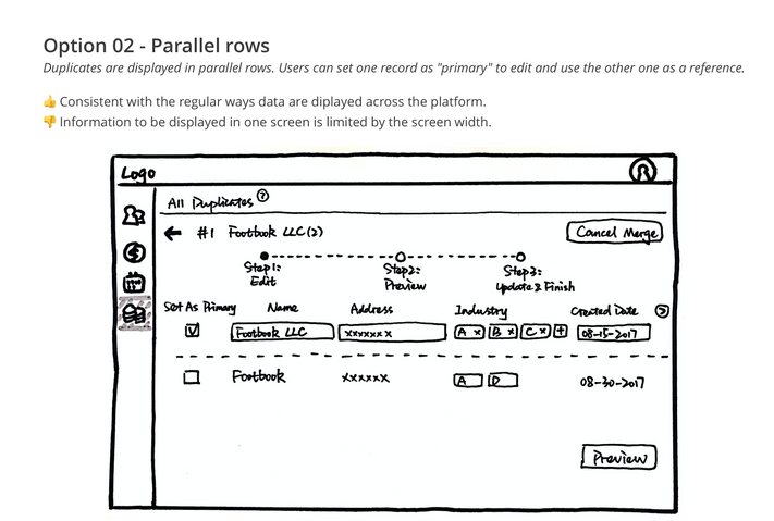 Option 02 - Parallel rows