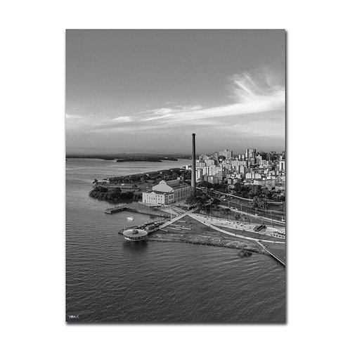 Quadro Usina do Gasômetro Vertical P&B  - Porto Alegre - RS