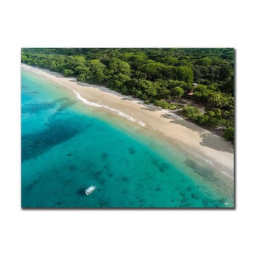Quadro Barco e Praia - Costa Rica
