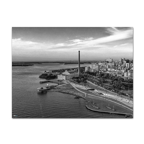 Quadro Usina do Gasômetro P&B  - Porto Alegre - RS