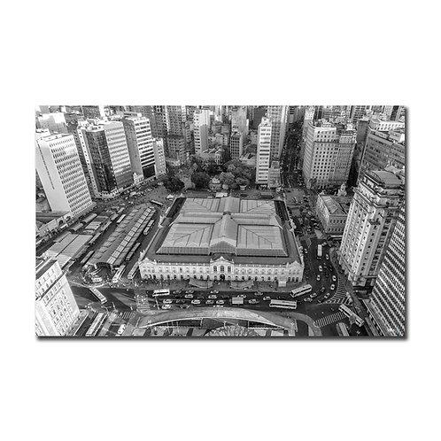 Quadro Mercado Público P&B - Porto Alegre - RS