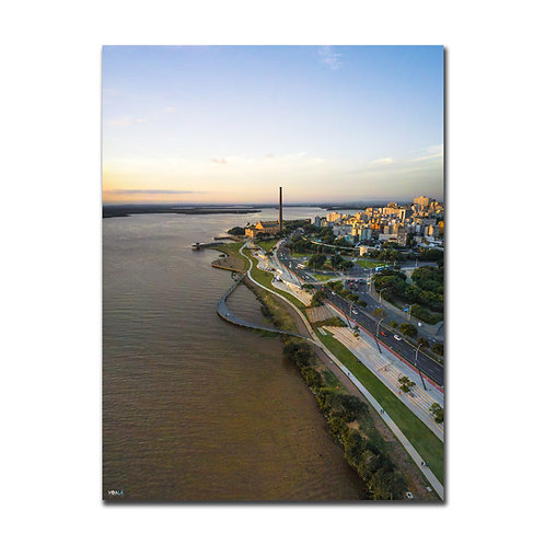 Quadro Orla do Gasômetro Vertical  - Porto Alegre - RS