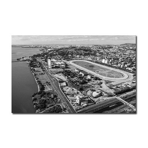 Quadro Jockey Club Hipódromo do Cristal P&B - Porto Alegre - RS