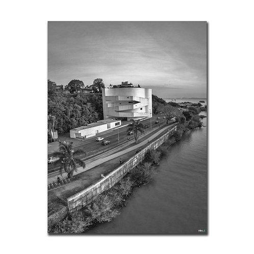 Quadro Museu Iberê Camargo Vertical P&B - Porto Alegre - RS