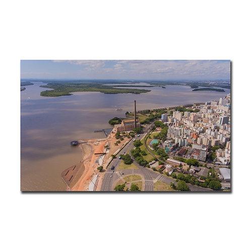 Quadro Usina do Gasômetro e Cisne Branco - Porto Alegre - RS