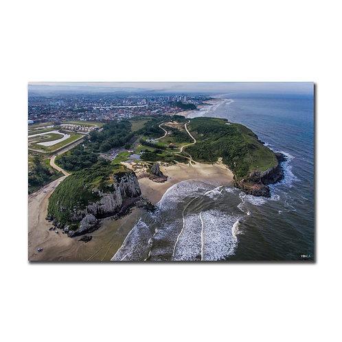 Quadro Praia da Guarita de Frente - Torres - RS