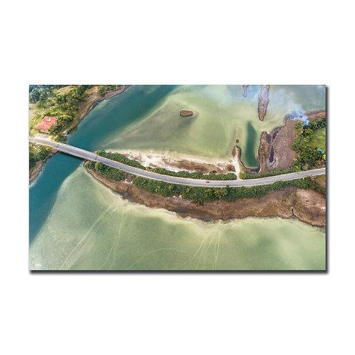 Quadro Ponte da Lagoa de Ibiraquera - Imbituba - SC