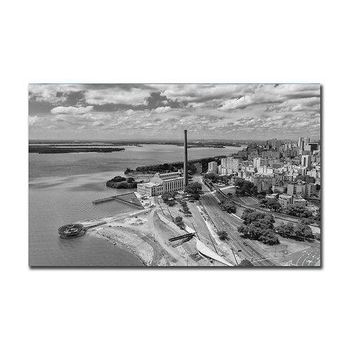 Quadro Revitalização Usina do Gasômetro P&B - Porto Alegre - RS