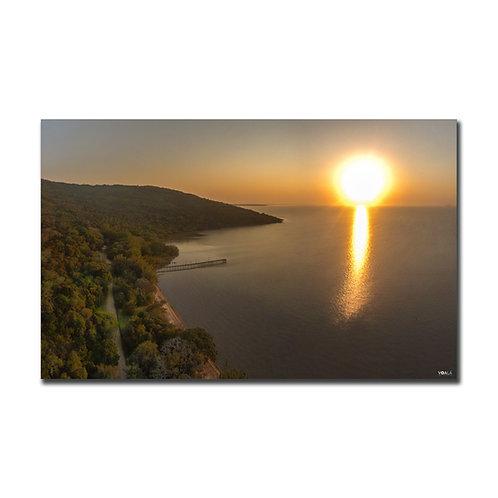 Quadro Pôr do Sol Praia das Pombas - Parque Itapuã - RS