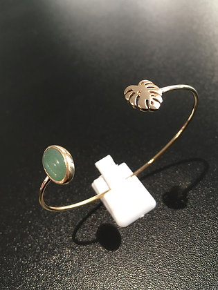Bracelet Plaqué Or / Aventurine