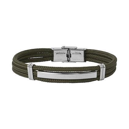 Bracelet acier et cordon BA18-20-KK-20