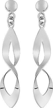 Boucles d'oreilles Or blanc 375/000