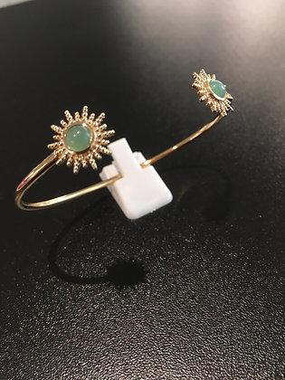 Bracelet PlaquéOr / Aventurine