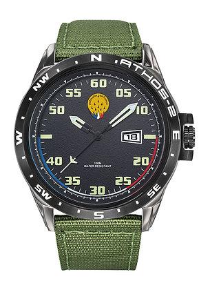 Montre Patrouille de France Acier Homme Bracelet Kaki Athos2 668052