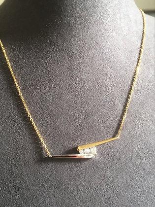 Collier Or 750/000 bicolore et diamants