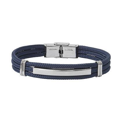 Bracelet acier et cordon BA18-20-BM-20