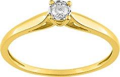 Solitaire Or jaune 750/000 diamant