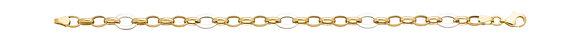 Bracelet Or jaune bicolore 375/000