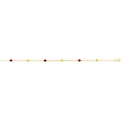 Bracelet Or jaune 750/000 Grenats