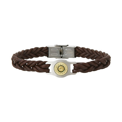 Bracelet cuir tressé BangBang SB011-MAR-20