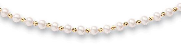 Collier perles Or jaune 750/000