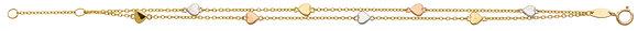 Bracelet Or tricolore 750/000