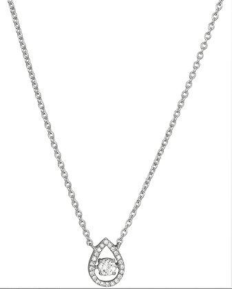 Collier Or blanc 750/000 diamants