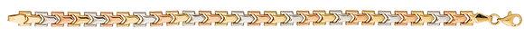 Bracelet Or tricolore 375/000