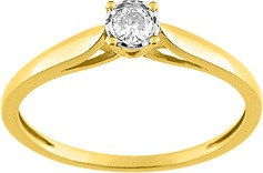 Solitaire Or jaune 750/000 diamant
