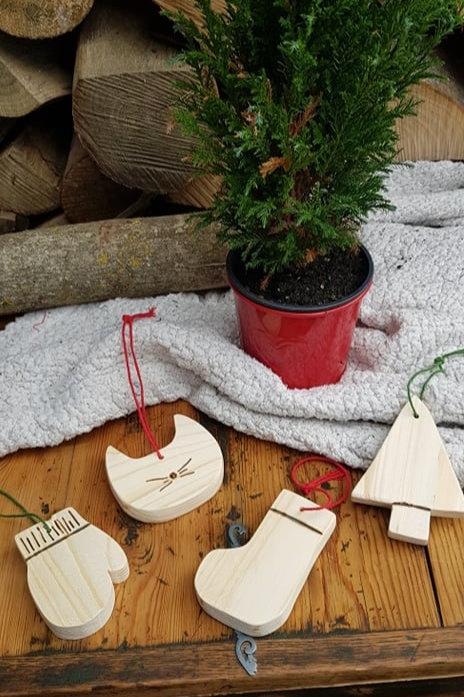 Suspension de Noël en bois