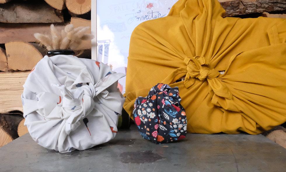 Emballage cadeau réutilisable (Furoshiki)