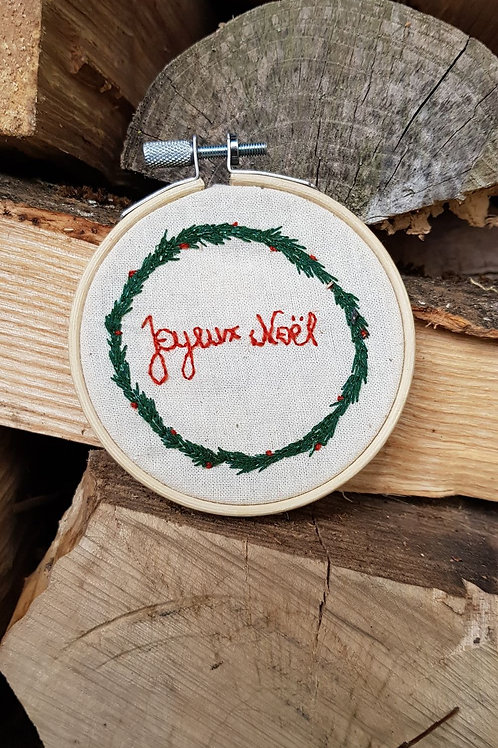 Broderie décorative de Noël