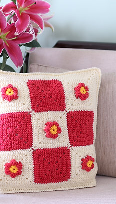 Solid Squares Cushion Cover