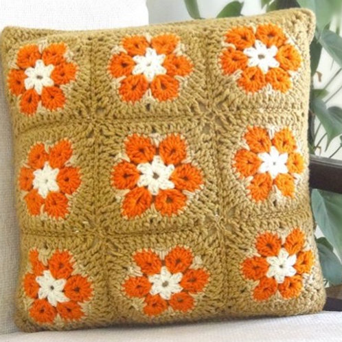 African Flower Cushion Cover