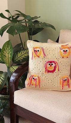 Whimsical Owlies Cushion Cover