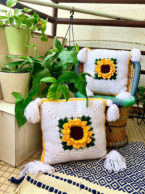 Sunflower Cushion Cover