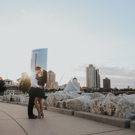 Brooke and Jack's Engagement Session at Lakeshore State Park