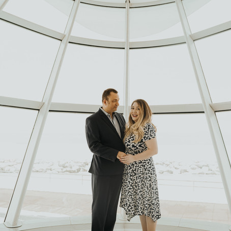 PAM + STEVE'S MILWAUKEE ART MUSEUM ENGAGEMENT SESSION