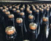 Le nostre bottiglie nel percorso di linea di imbottigliamento
