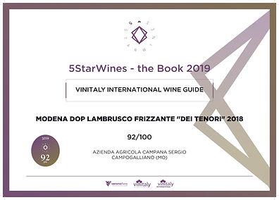 vinitaly, premio, guida, 5star, 2019