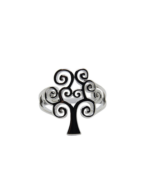 R185 - Sterling Silver Tree of Life Ring