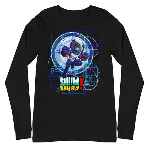 Adult Long Sleeve BLUE MOOBA Tee