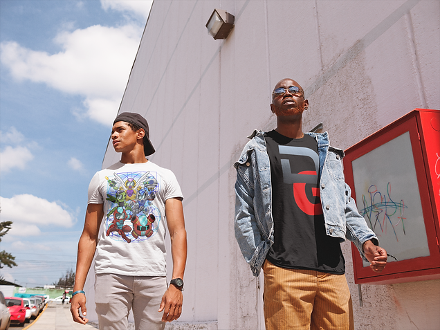 t-shirt-mockup-of-two-friends-walking-outside-a-shopping-center-22408.png