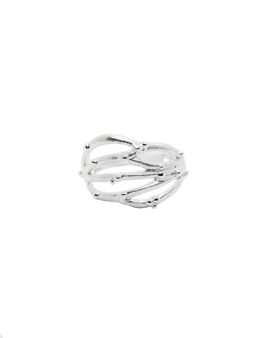 R205 - Sterling Silver Abstract Coral Reef Ring