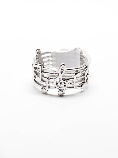 Sterling Musical Notes Ring