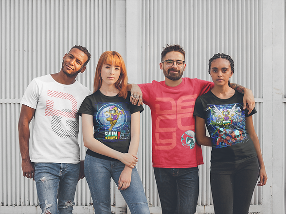 t-shirt-mockup-featuring-a-group-of-frie