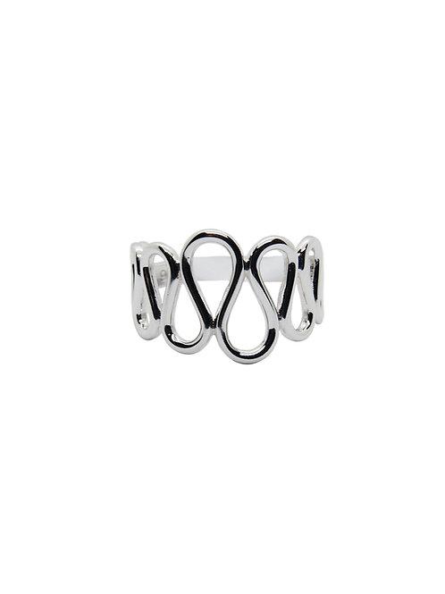 R220 - Sterling Silver Wavy Ring