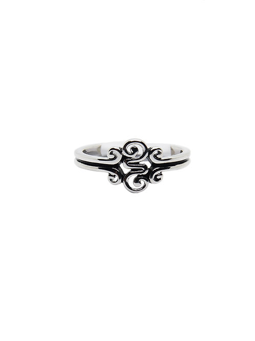 R217 - Sterling Silver Tight Swirl Ring